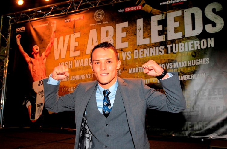 WE ARE LEEDS FINAL PRESS CONFERENCELEEEDS CITY MUSEUM,LEEDSPIC LAWRENCE LUSTIG WBC INTERNATIONAL FEATHERWEIGHT TITLEJOSH WARRINGTON LOOKS FORWARD TO HIS BIG NIGHT