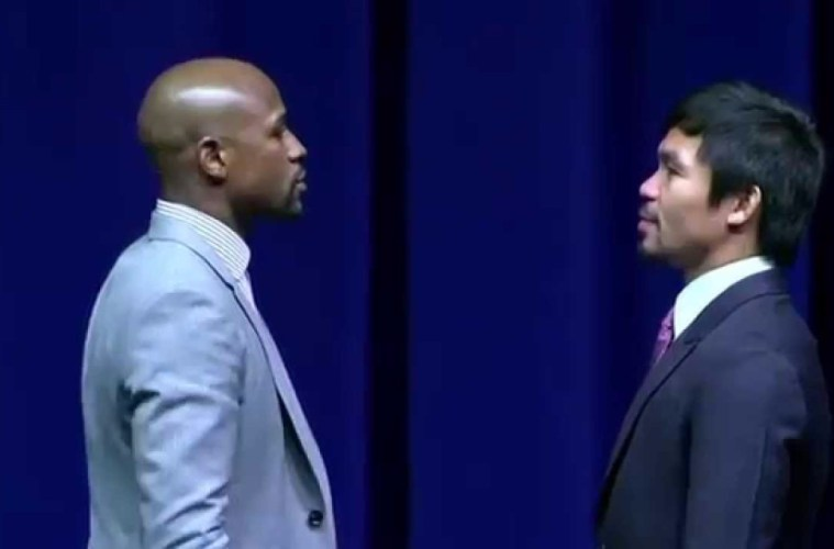 watch mayweather pacquiao weigh in video where