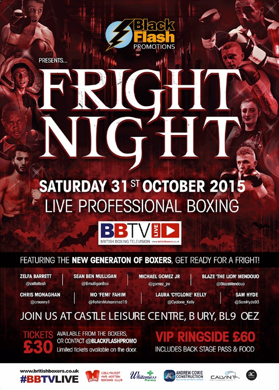 Fright Night Boxing Show October 31 2015