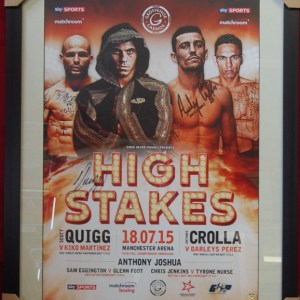 QUIGG CROLLA SIGNED FRAMED POSTER HIGH STAKES