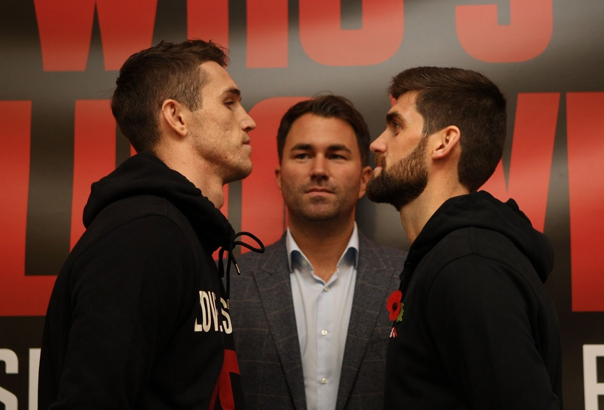 WHO'S FOOLING WHO PRESS CONFERENCE ROYAL LIVER BUILDING,LIVERPOOL PIC;BRADLEY ORMESHER CALLUM SMITH AND ROCKY FIELDING COME FACE TO FACE BEFORE THEY CLASH FOR THE BRITISH SUPER-MIDDLEWEIGHT TITLE ON EDDIE HEARNS MATCHROOM PROMOTION AT THE ECHO ARENA ON SATURDAY(NOV 7TH)