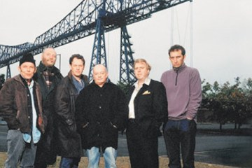 the boys are back this time they're dismantling the transporter bridge