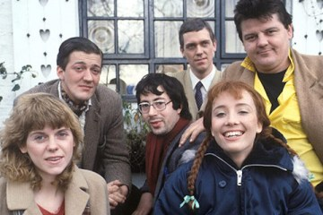 cast of the hit itv 1980's sketch show alfresco