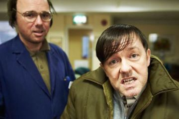 karl Pilkington as Dougie and Ricky Gervais as Derek