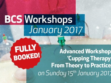 CUPPING THERAPY WORKSHOP (January 2017) FULLY BOOKED