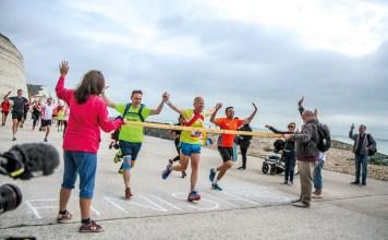 James Clarke crossing finish line