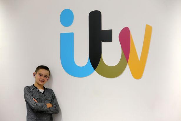 Danny Murphy (13) who is deaf, yet has his own show on CITV (Image: Newcastle Chronicle)