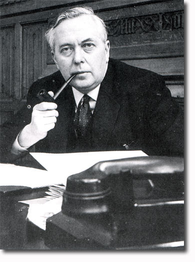 Harold Wilson, rarely seen without his pipe