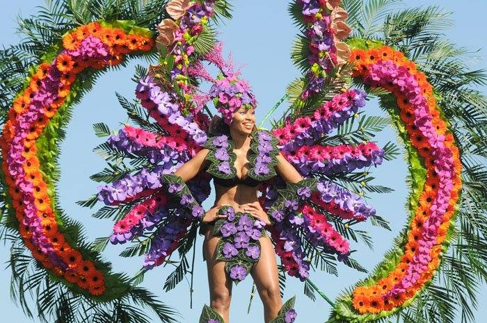 Helen Pannitt Harrogate show Floral Carnival Costume