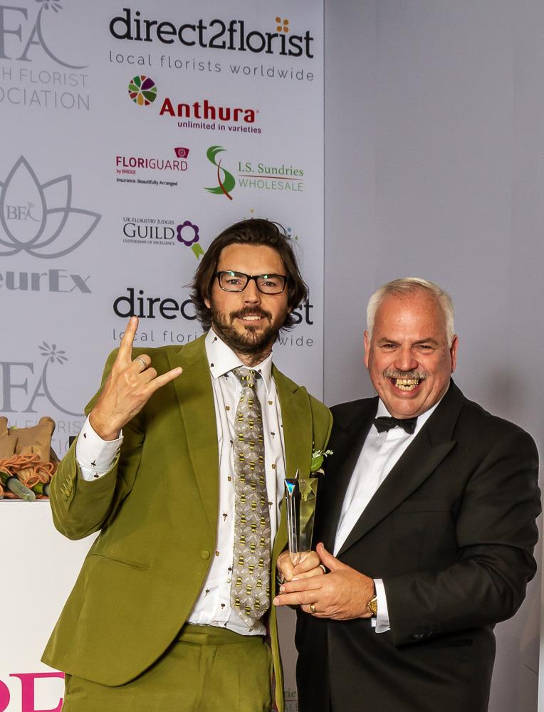 BFA industry awards FleurEx Ben Crossland of Crossland Flower Nursery, British flowers Grower of the year