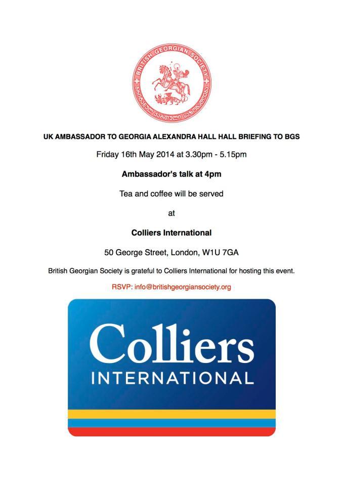 UK Ambassador to Georgia Briefing to BGS 16 May 2014