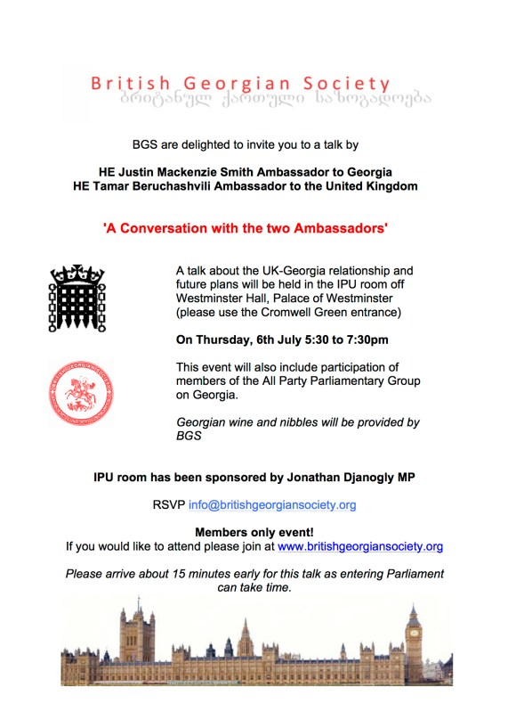 'A Conversation with the two Ambassadors' in Parliament 6 July 2017