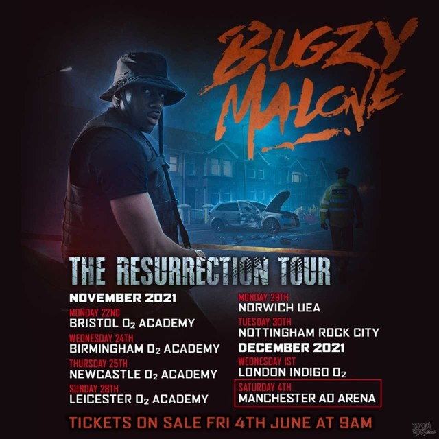 Bugzy Malone Announces UK Headline Tour