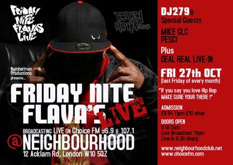 Friday Nite Flavas Live