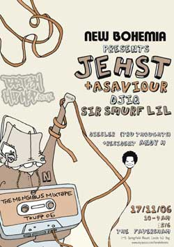 Jehst, Asaviour, DJ IQ, Sir Smurf Little, Conspicuous The Coroner - New Bohemia @ The Fav, Friday 17