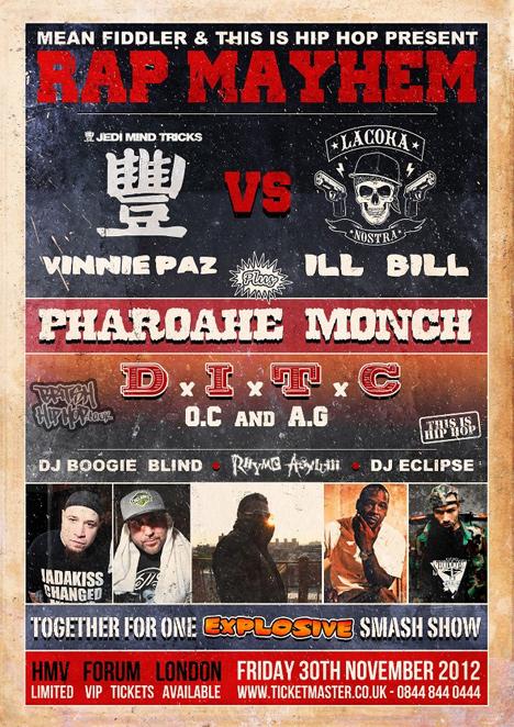 Rap Mayhem Friday 30th November At The Forum, London
