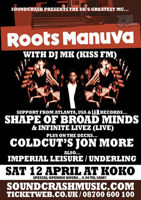 Roots Manuva With DJ MK Live At Koko
