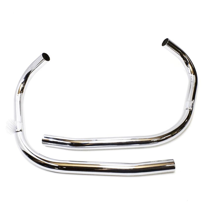 Exhaust Pipes Stainless Steel, Triumph TR6 T140 Bonneville