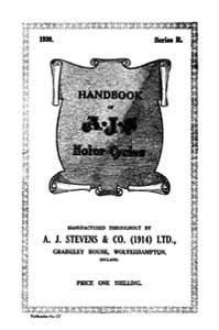 1930 AJS 'R' models Handbook