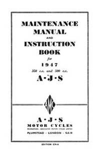 1947 AJS Maintenance manual