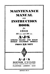 1952 AJS Singles Maintenance manual