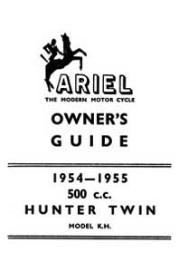 1954-1955 Ariel Twin KH 500cc owners guide