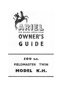 1956-1957 Ariel Twin KH 500 owners guide