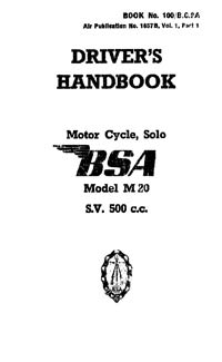 W.D. BSA M20 Drivers handbook