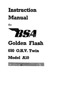 1950 BSA A10 instruction book