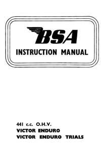 1966 BSA B44 Victor Enduro, Victor Enduro Trials