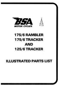 BSA 175/6 Rambler & Tracker 125/6 Tracker parts book