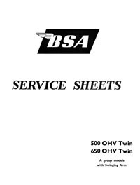 BSA A7 & A10 Swing arm Frame Models Service sheets
