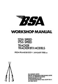 BSA 125/6 175/6 Tracker BTX workshop manual