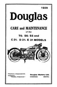 1930-1931 Douglas T6, S6, S5 & C/31, D/31, E/31maintenance