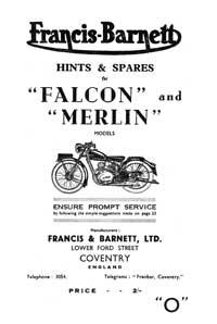 1948-1953 Francis Barnett Merlin 52 53 Falcon 54 55 hints