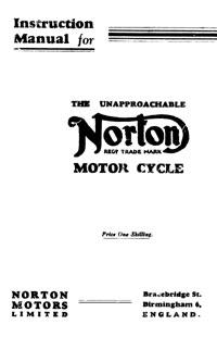1933-1936 Norton all models Instuction manual