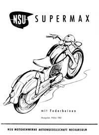 1961 NSU Supermax instruction book
