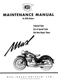 NSU MAX Maintenance manual