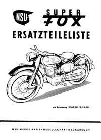 NSU Super Fox parts book