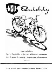 NSU Quickly parts book (early model)