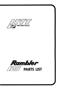 NVT 125cc Rambler parts list
