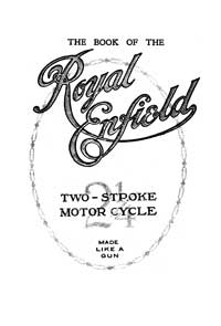 1920's Royal Enfield 2 1/4 hp two stroke instruction book