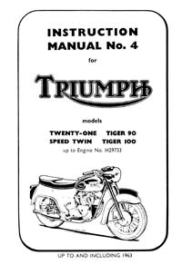1957 to 1963 Triumph Unit 350-500cc workshop Manual