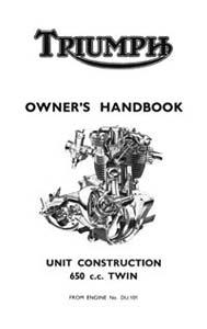 1963 Triumph unit 650cc Handbook