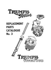 1955 Triumph Terrier Tiger cub parts list