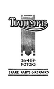 1923 Triumph 3 1/2hp & 4hp parts list