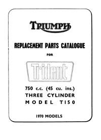 1970 Triumph Trident parts book
