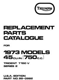 1973 Triumph Trident parts book (late)