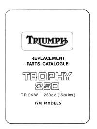 Triumph 1970 Trophy TR25W parts list