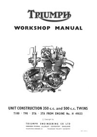 1963 to 1967 Triumph Unit 350-500cc workshop Manual